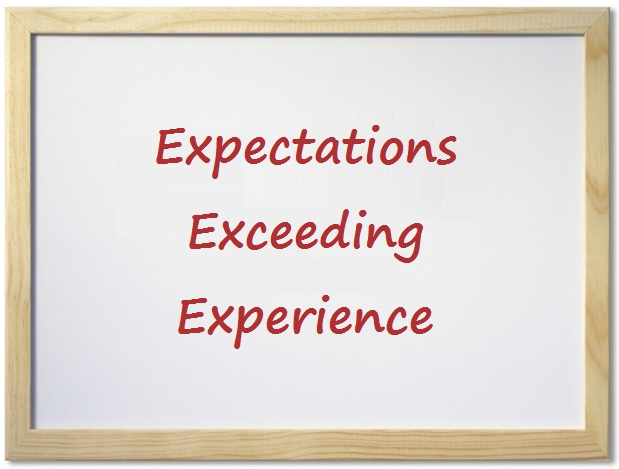 Expectations Exceeding Experience
