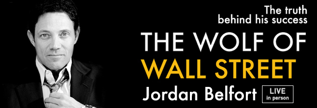 Jordan Belfort Live in London Buy Your Discount Tickets