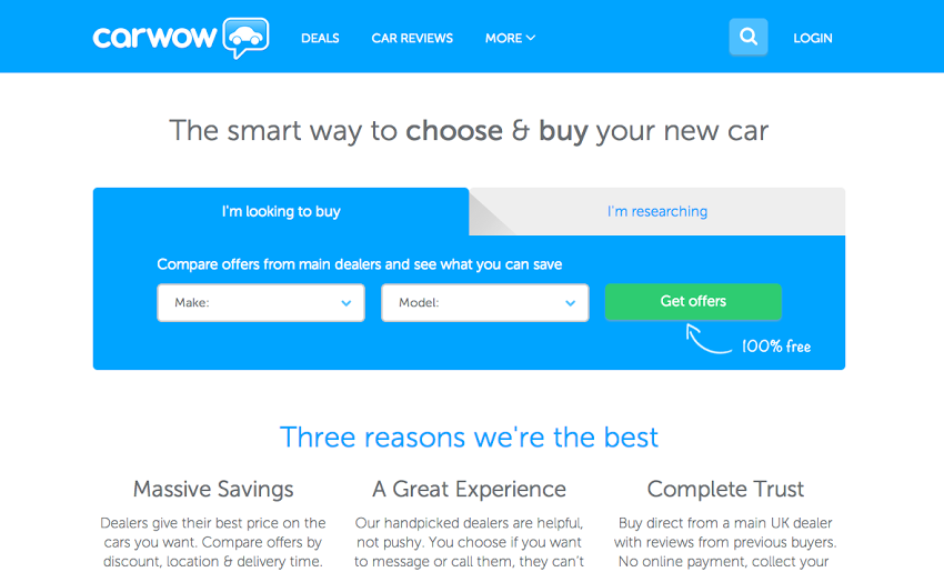 carwow site